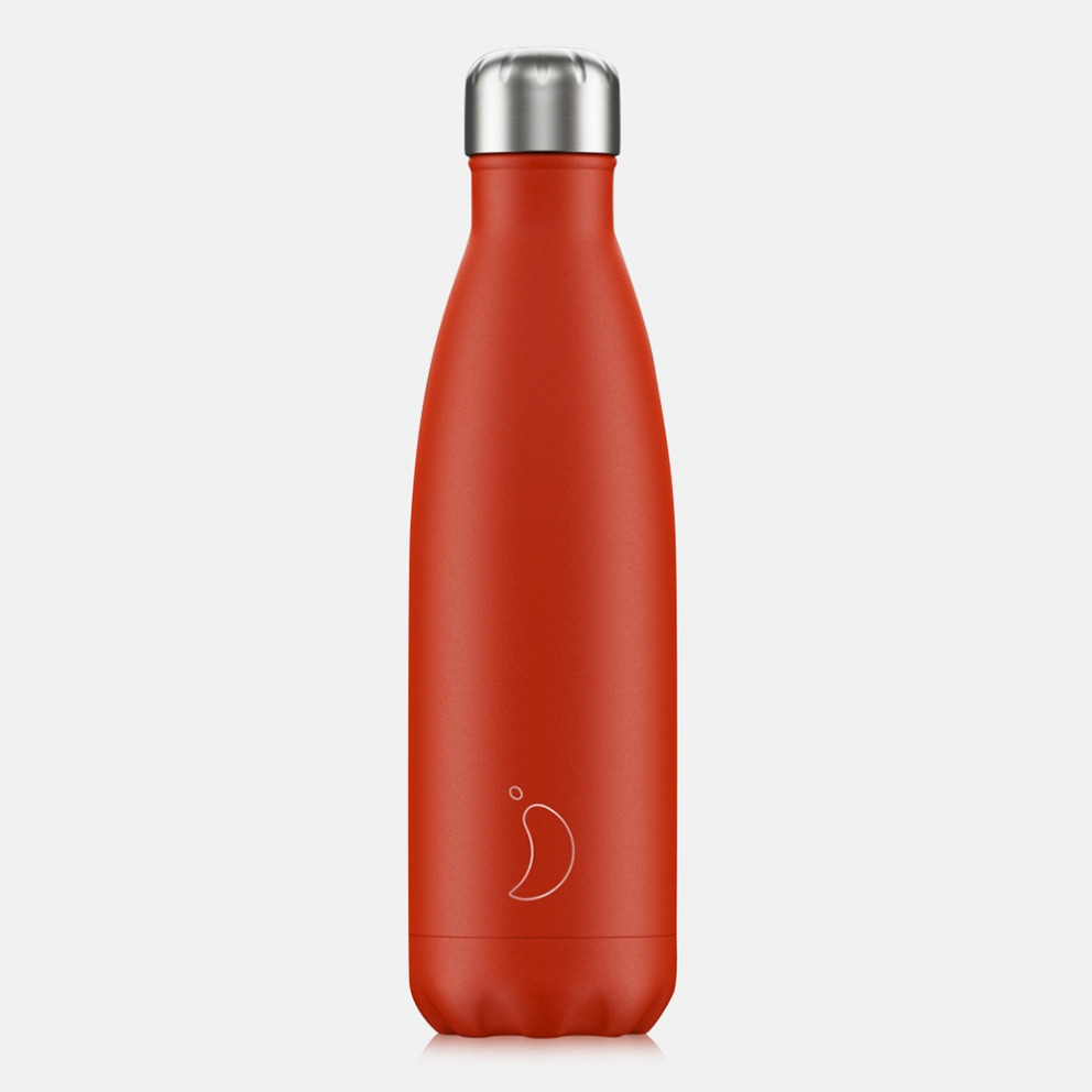 Chilly's Bottles Neon Red 500ml
