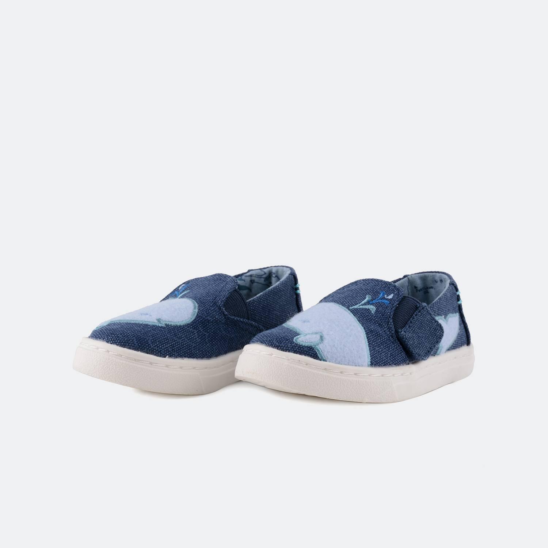 TOMS Oceana Whale Felt Patch Slip Ons | Βρεφικά Παπούτσια (9000006025_6707)