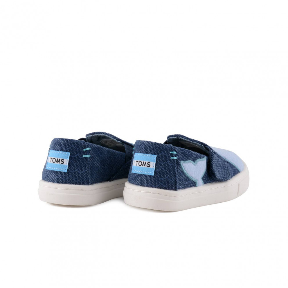 TOMS Oceana Whale Felt Patch Slip Ons | Βρεφικά Παπούτσια