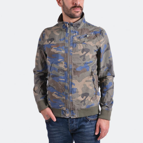 Emerson Men's stone washed jckt with rib bottom