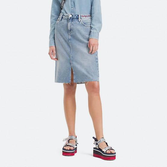 Tommy Jeans Knee Length Denim Skirt
