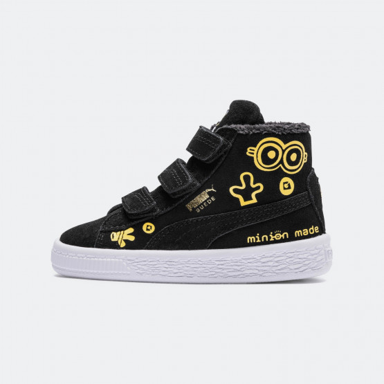 Puma X Minions Suede Mid Fur V Baby's Boots