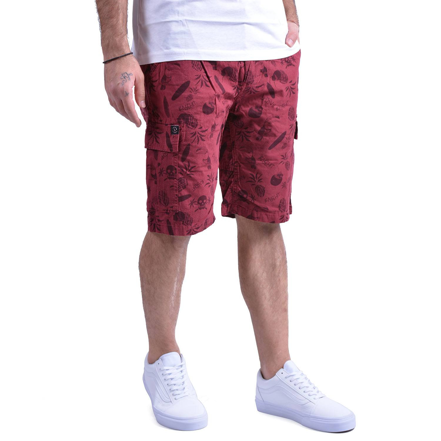 Basehit Men's printed gd cargo short pants (20819101868_27124)