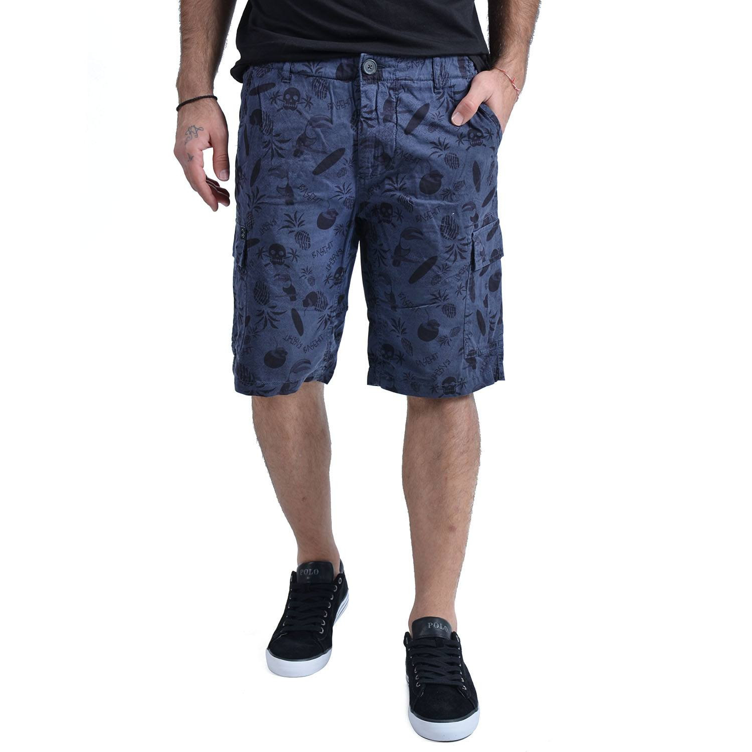 Basehit Men's printed gd cargo short pants (20819101868_27125)