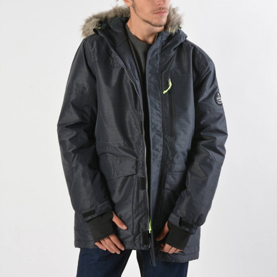 Emerson Men's jkt hooded with det/ble fake fur
