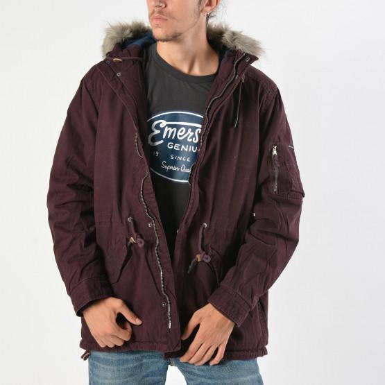 Emerson Men's hood long jkt with det/ble fakefur