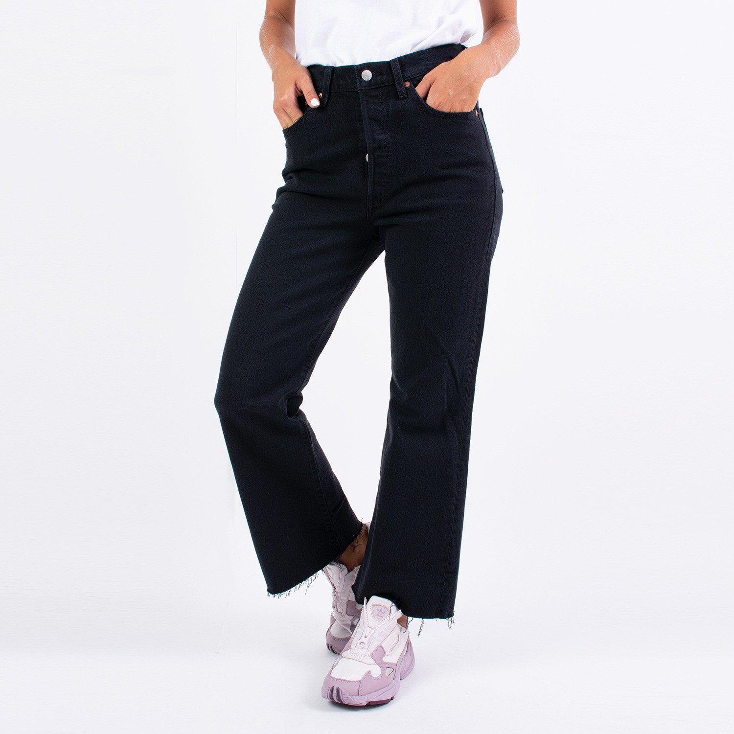 Levis RIBCAGE CROP FLARE ON THE ROCK (9000038254_26097)