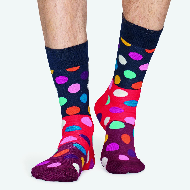 Happy Socks Big Dot Block Sock - Unisex Κάλτσες (9000041010_2074)