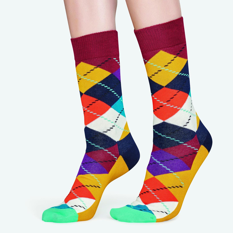 Happy Socks Argyle - Unisex Κάλτσες (9000041007_2074)