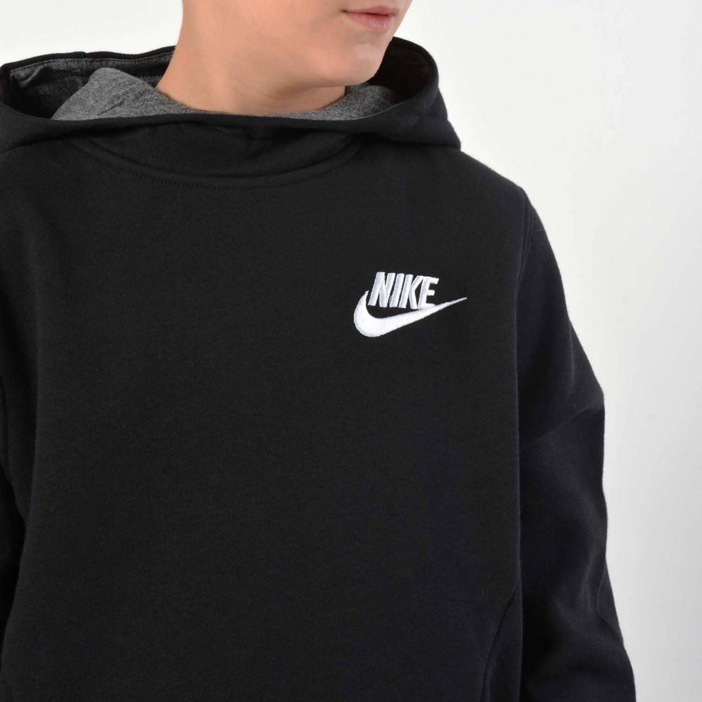 Nike Sportswear Boys/' Club Pullover Hoodie 939642-010 Black