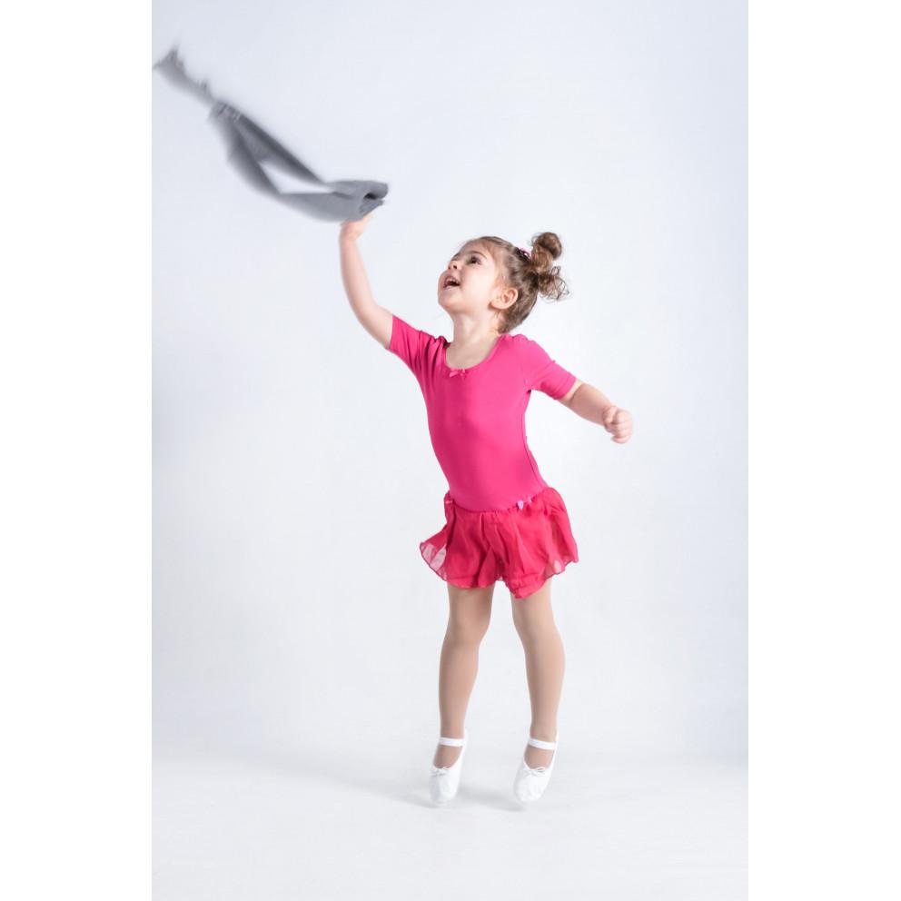 Go Dance Short SLeeve Leotard W/skirt