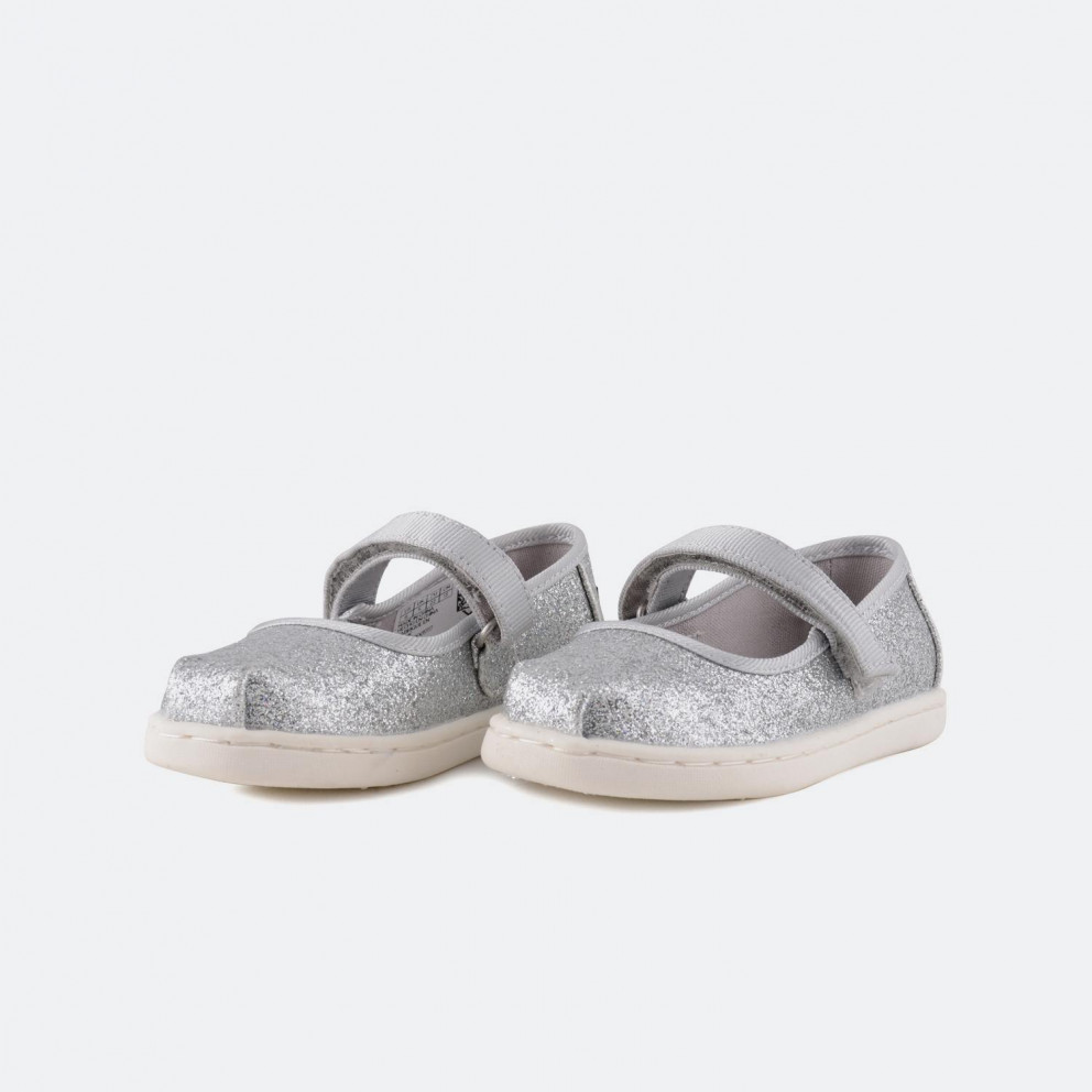 TOMS Silver Iridescent Glimmer Mary Jane | Παιδικά Παπούτσια