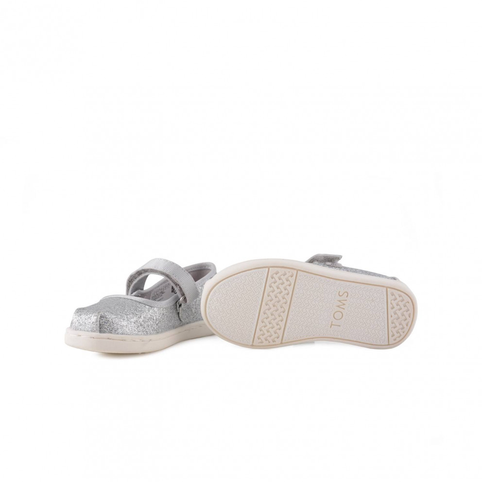 TOMS Silver Iridescent Glimmer Mary Jane | Infant's Shoes