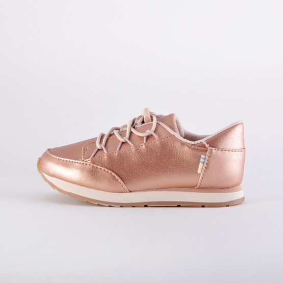 TOMS Pearlized Synthetic Leather Tiny TOMS Bixby Sneakers