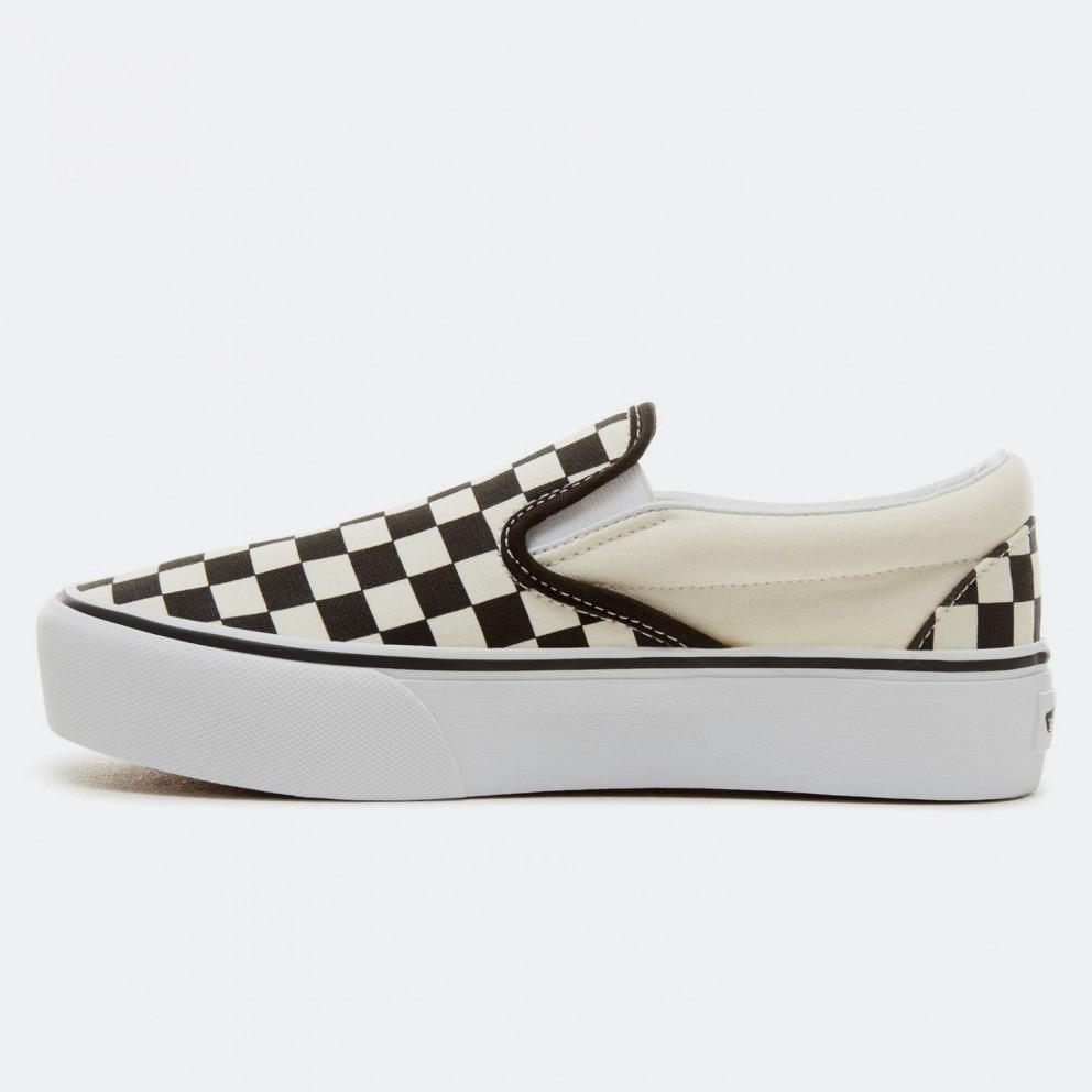 Vans Checkerboard Classic Slip-On Women's  Platform Shoes