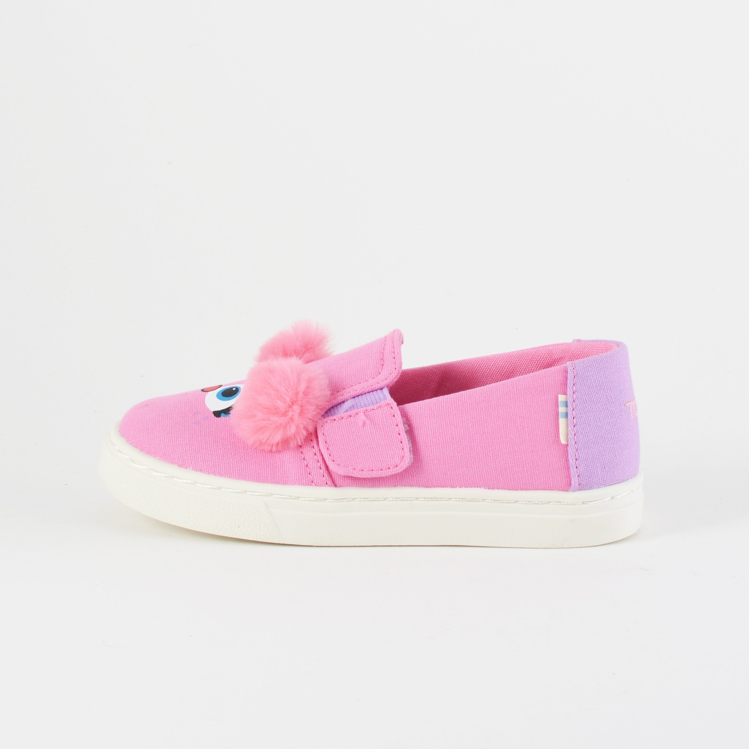 TOMS Pnk Abby Face Canvas Tn Luca Slipon (9000026051_3142)