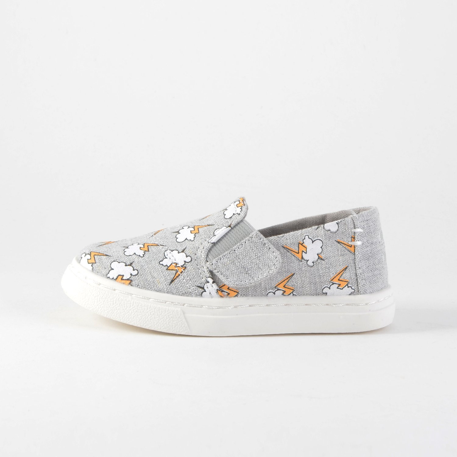 TOMS Drizzle Lighting Bolt Tiny Luca Slip-Ons (9000006024_17...