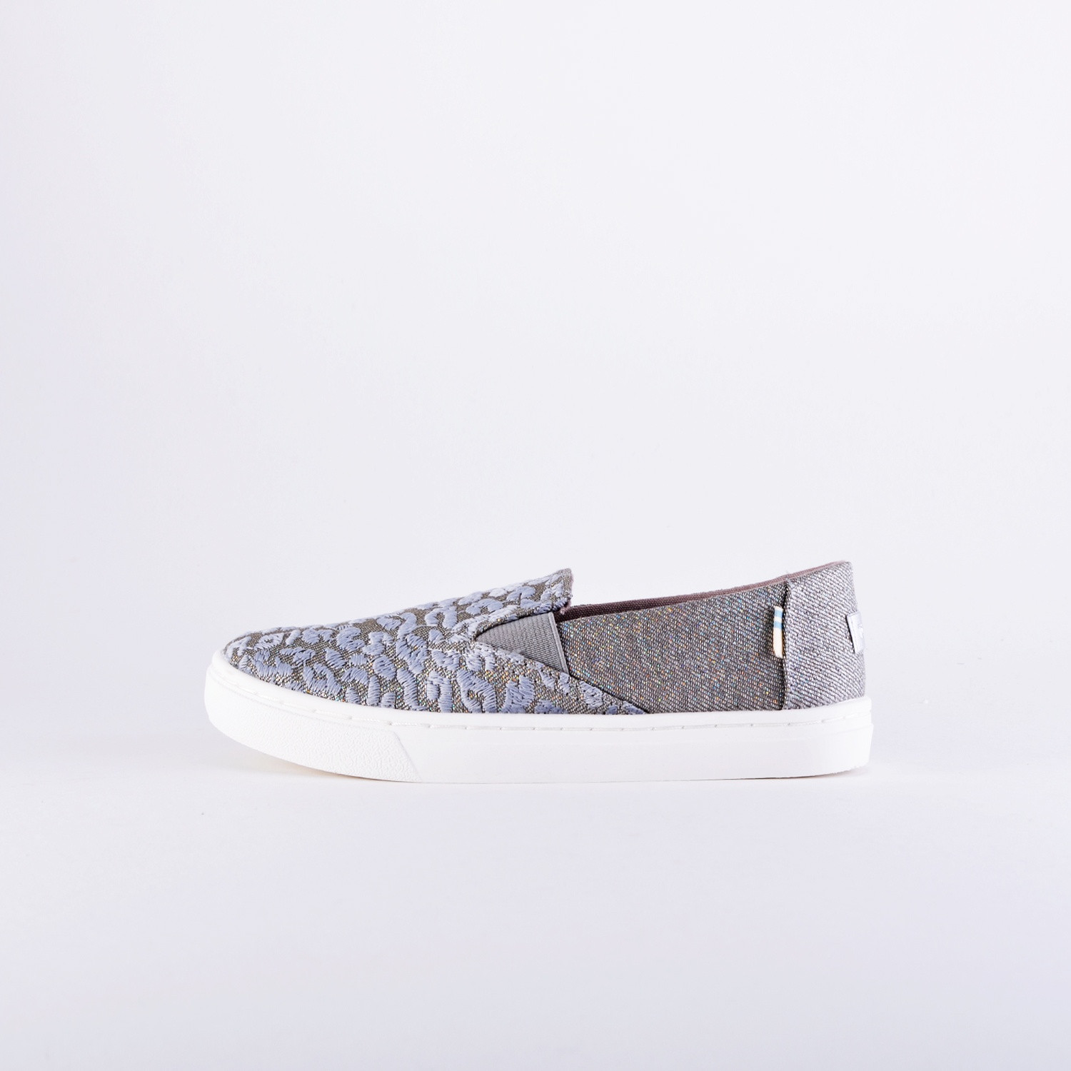 TOMS Twill Glimmer Youth Luca Slip On Shoes - Παιδικά Παπούτ...