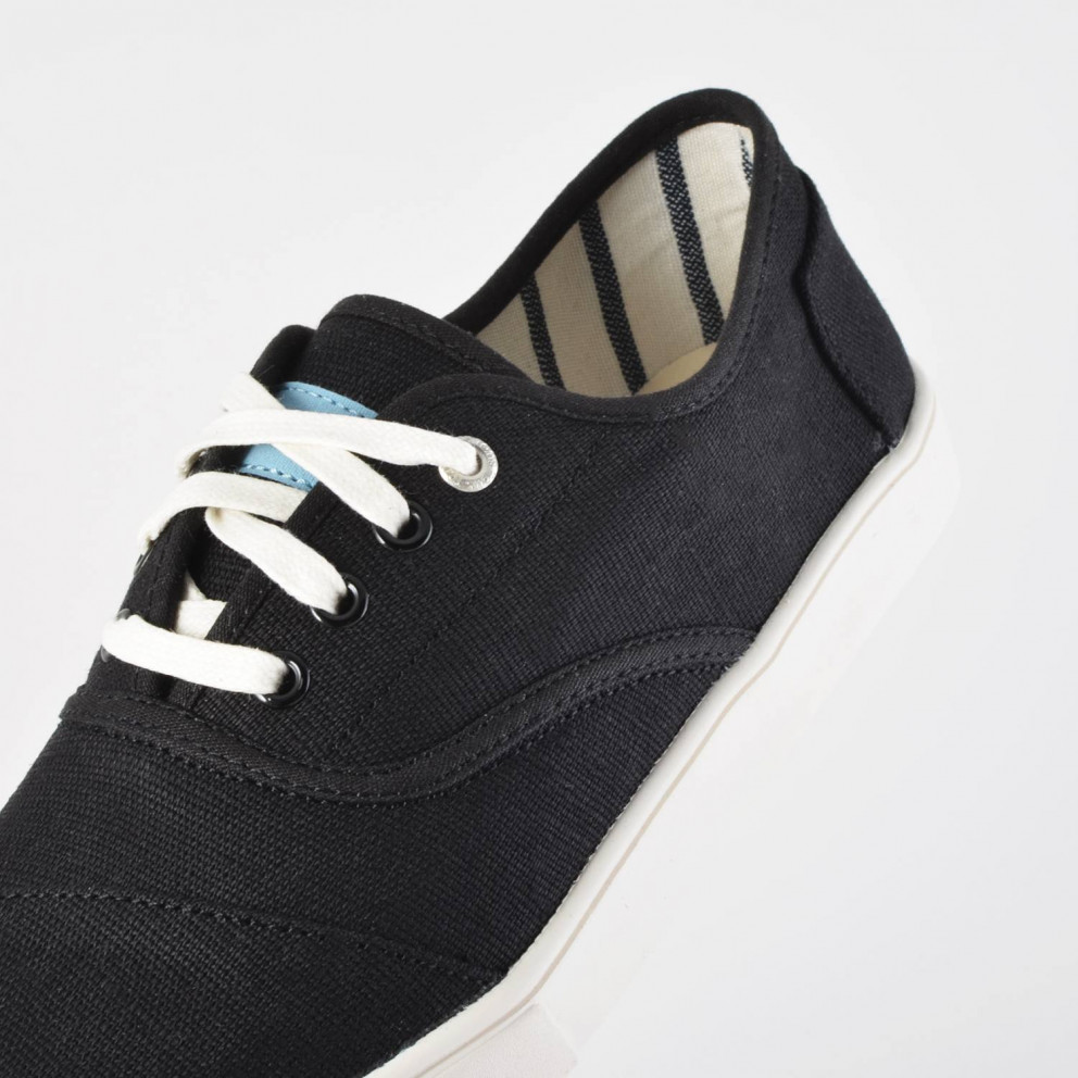 TOMS Black Heritage Canvas Cup Mn Cord Sneak
