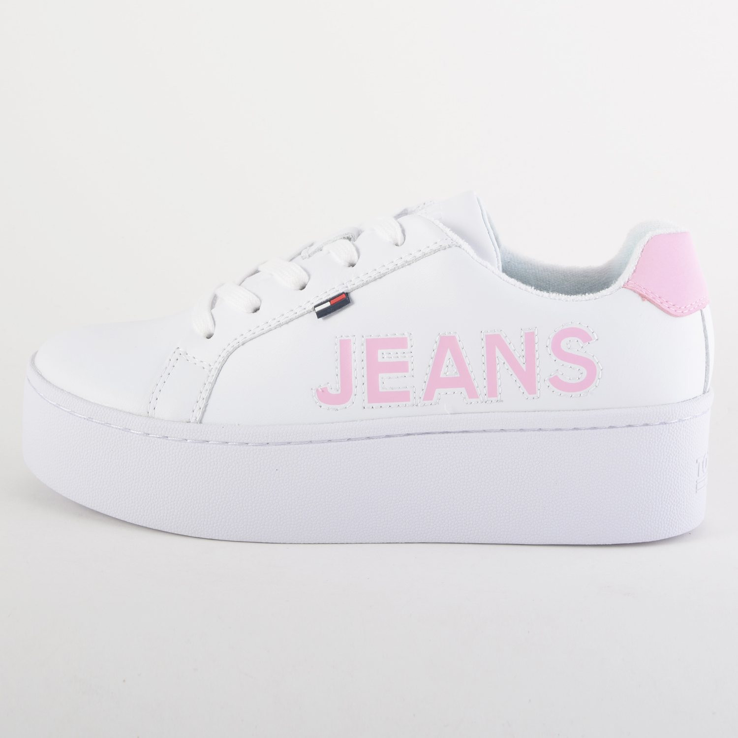 Tommy Jeans Icon Leather Flatform Trainers (9000036425_1539)
