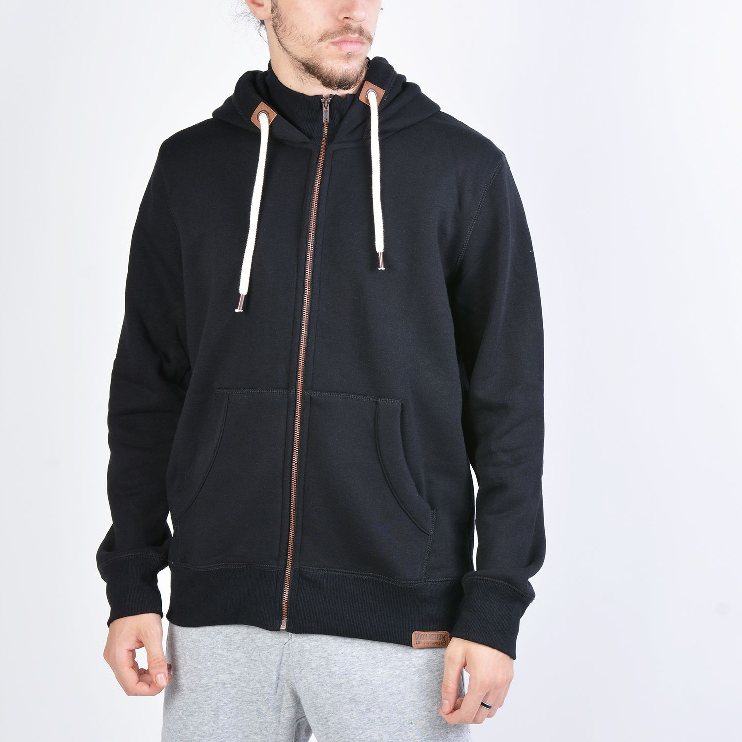 Body Action Hooded Sweat Jacket - Ανδρική Ζακέτα (9000041218_1899)
