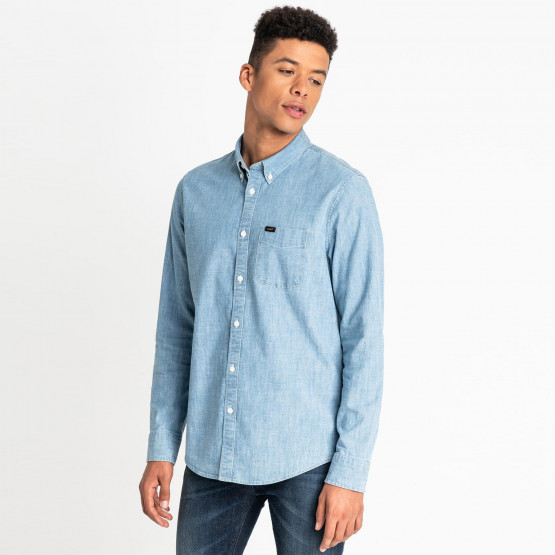 Lee LEE BUTTON DOWN FROST BLUE