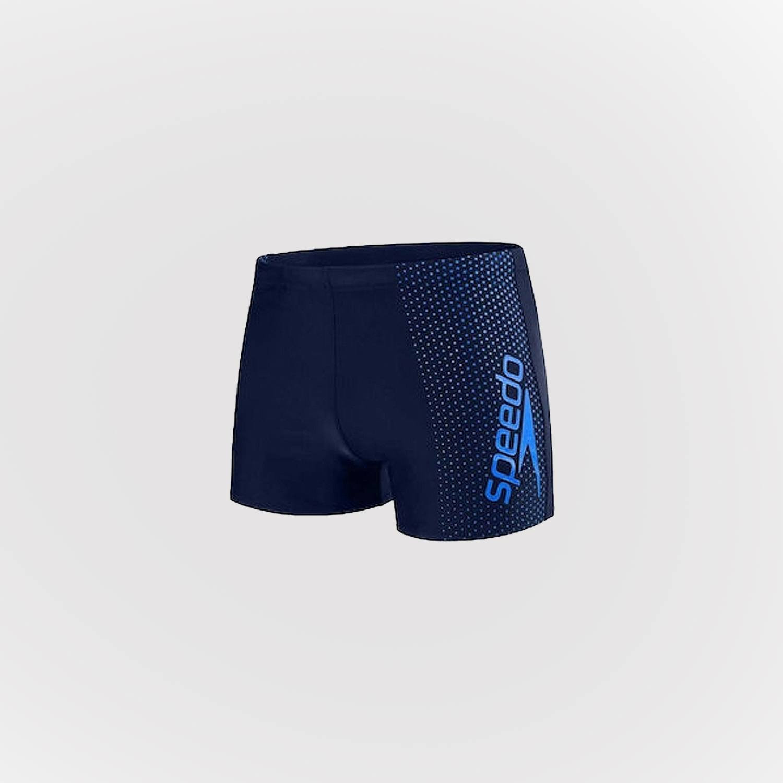 Speedo Boys Kids Logo Panel Swimming Swim Aquashort Boxer Shorts Trunks