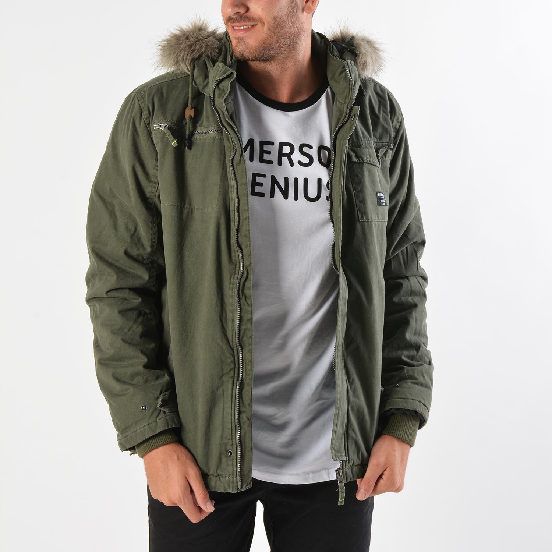 Basehit Men's Jacket With Detachable Fur (9000019097_8393)