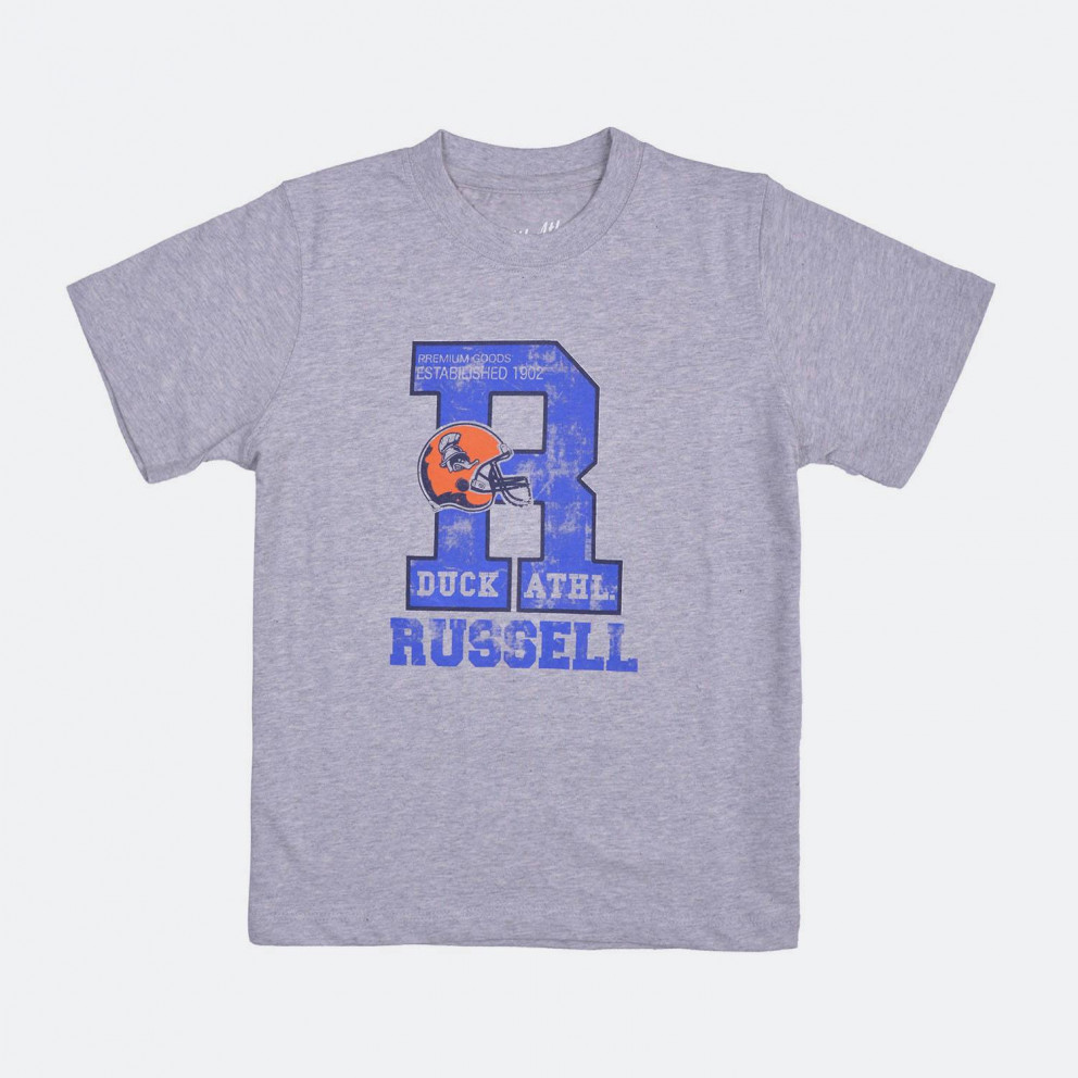 RUSSELL ATHLETIC S/S CREW NECK TEE WITH GRAPHIC