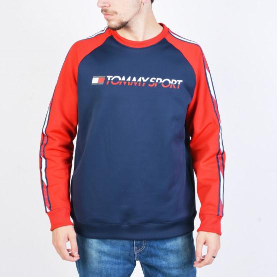 Tommy Sport FLEECE TAPE CREW