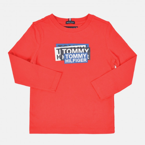 Tommy Jeans Kid's Sticker Print Organic Cotton T-Shirt