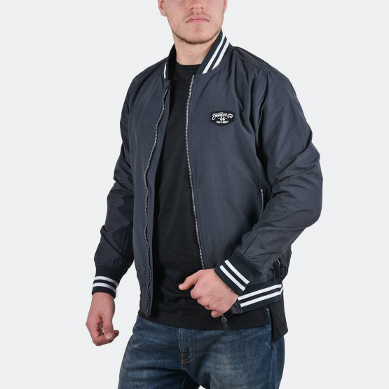 Emerson Men's washed jacket with rib bottom