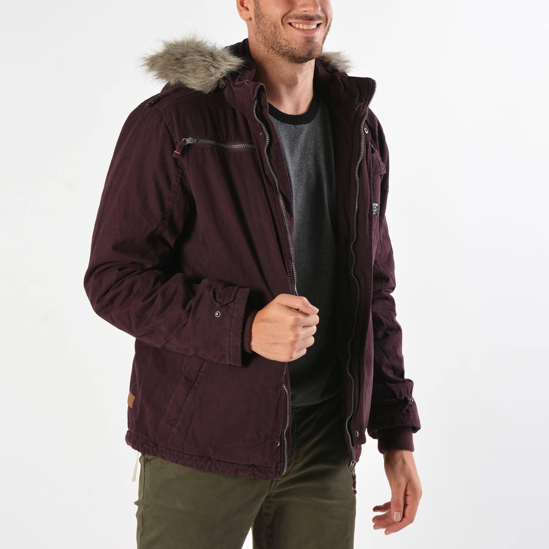 Basehit Men's Jacket With Detachable Fur (9000019097_4929)