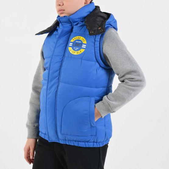 Bodytalk Kid's Sleeveless Jacket with Hoodie