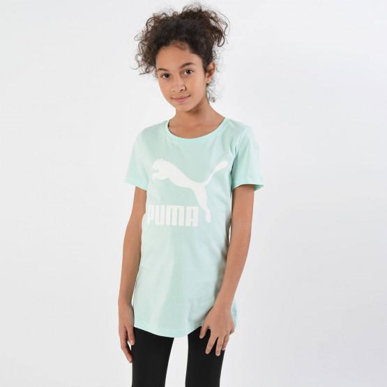 Puma Classics Short Sleeve Girls' Logo Tee - Παιδικό Μπλουζάκι