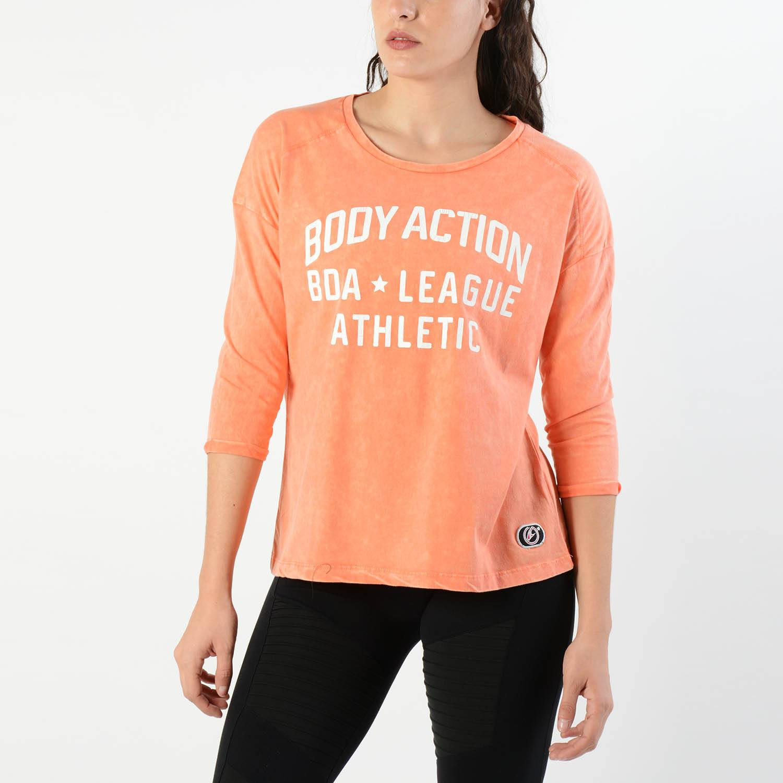 Body Action Dye-Effect Slouch | Γυναικεία Μπλούζα (9000007267_5008)