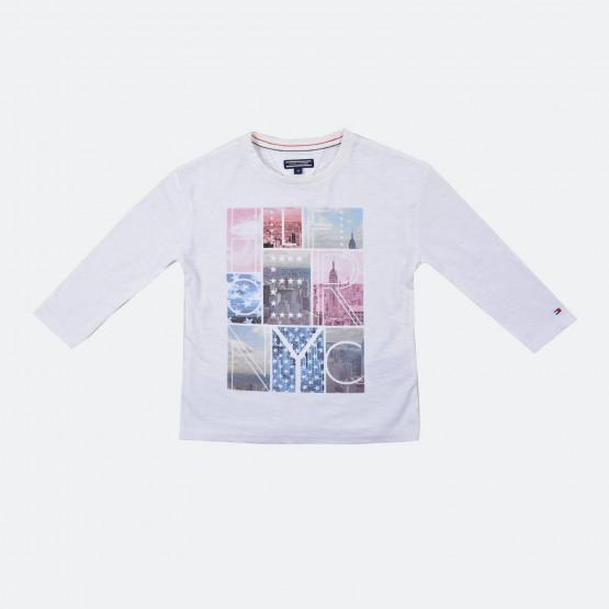 Tommy Jeans Girls Photoprint Cn Knit L/s