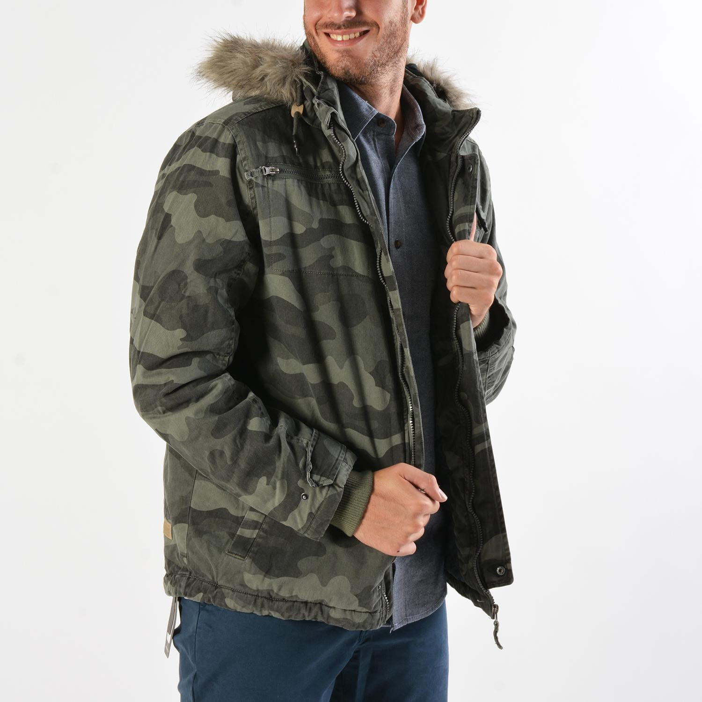 Basehit Men's Jacket With Detachable Fur (9000019097_30893)