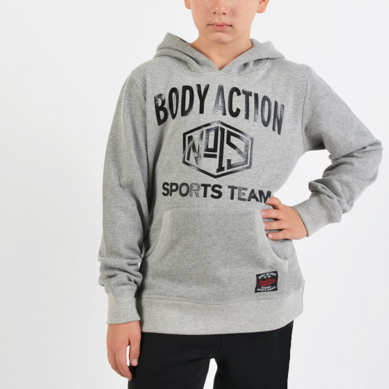 Body Action Basic Hoodie - Παιδικό Φούτερ για Αγόρι