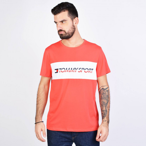Tommy Sport Logo Panel T-Shirt