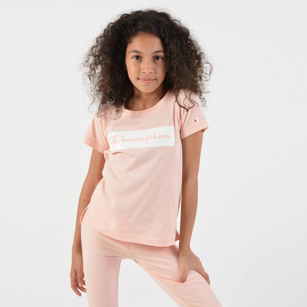 Champion Crewneck T-Shirt - Παιδικό Μπλουζάκι Για Κορίτσια