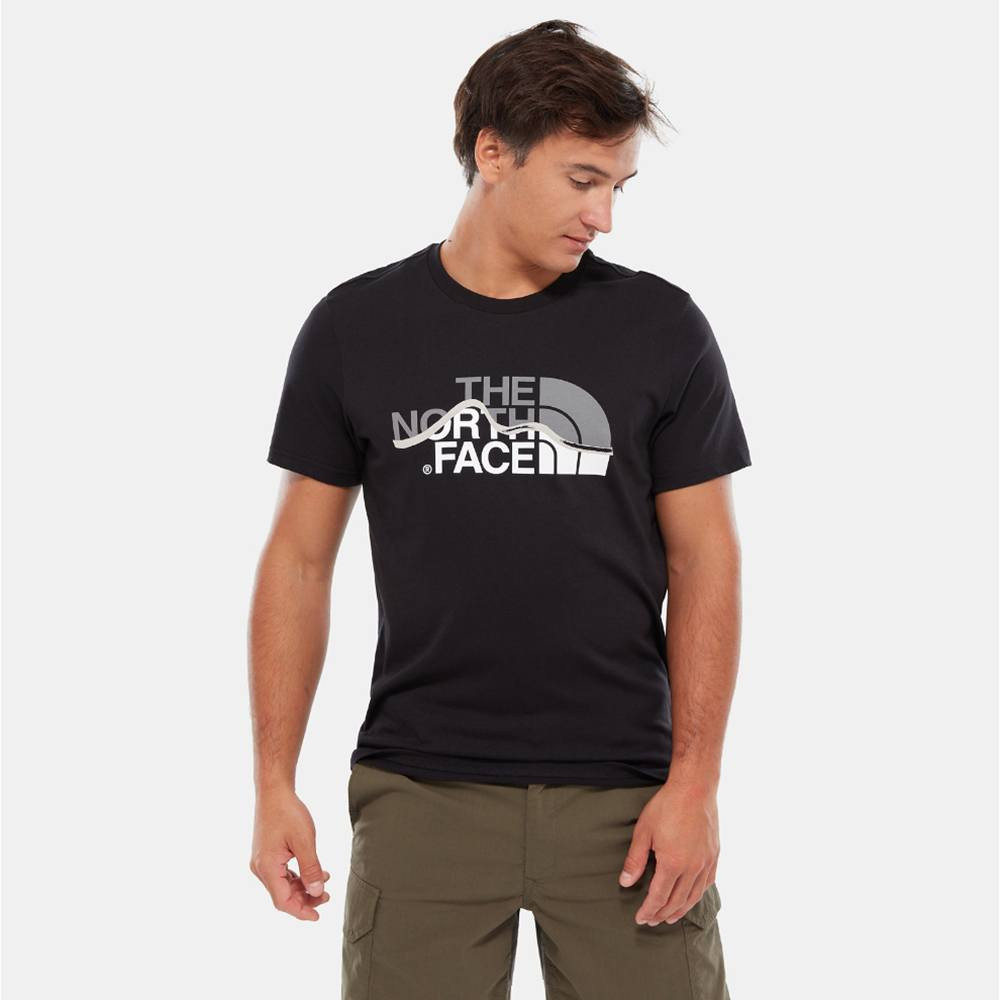 The North Face Mountain Line - Ανδρικό T-shirt (9000027916_4617)