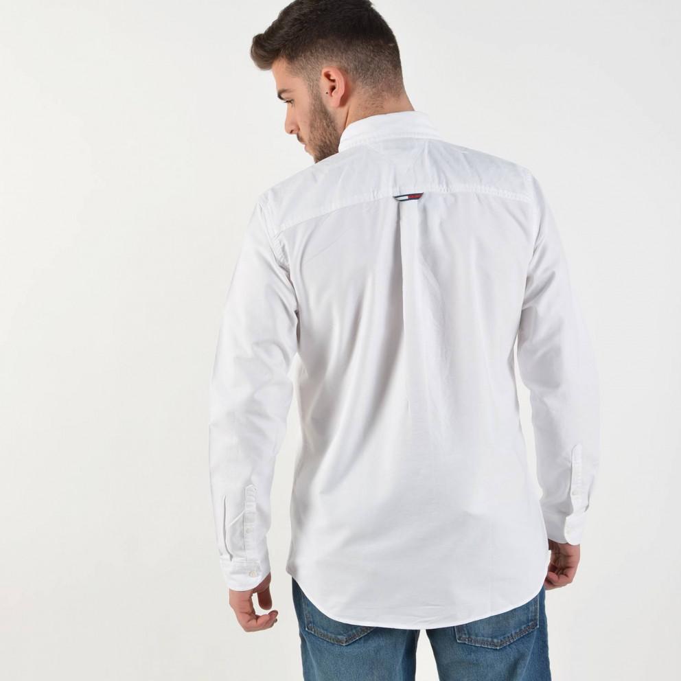 Tommy Jeans Organic Cotton Oxford - Ανδρικό Πουκάμισο