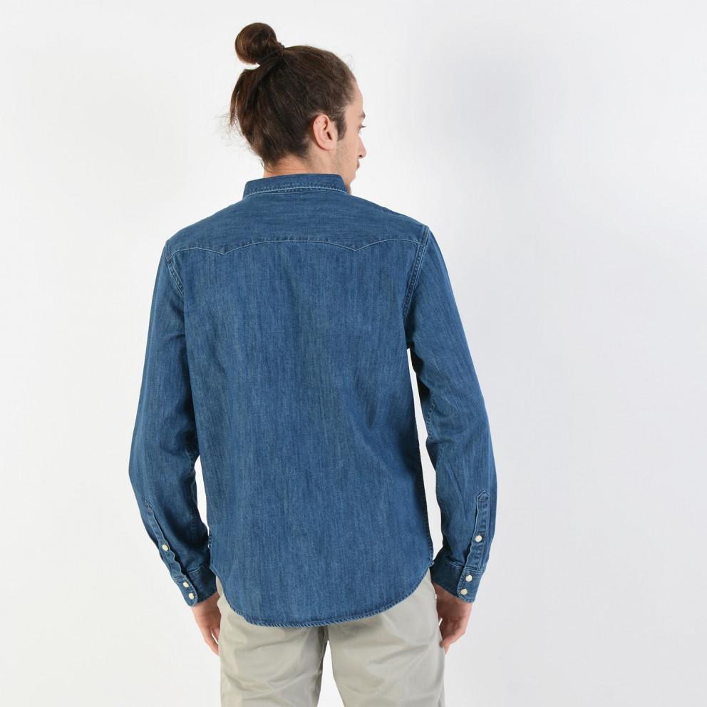 Lee Men'S Western Blue Shirt - Ανδρικό Πουκάμισο