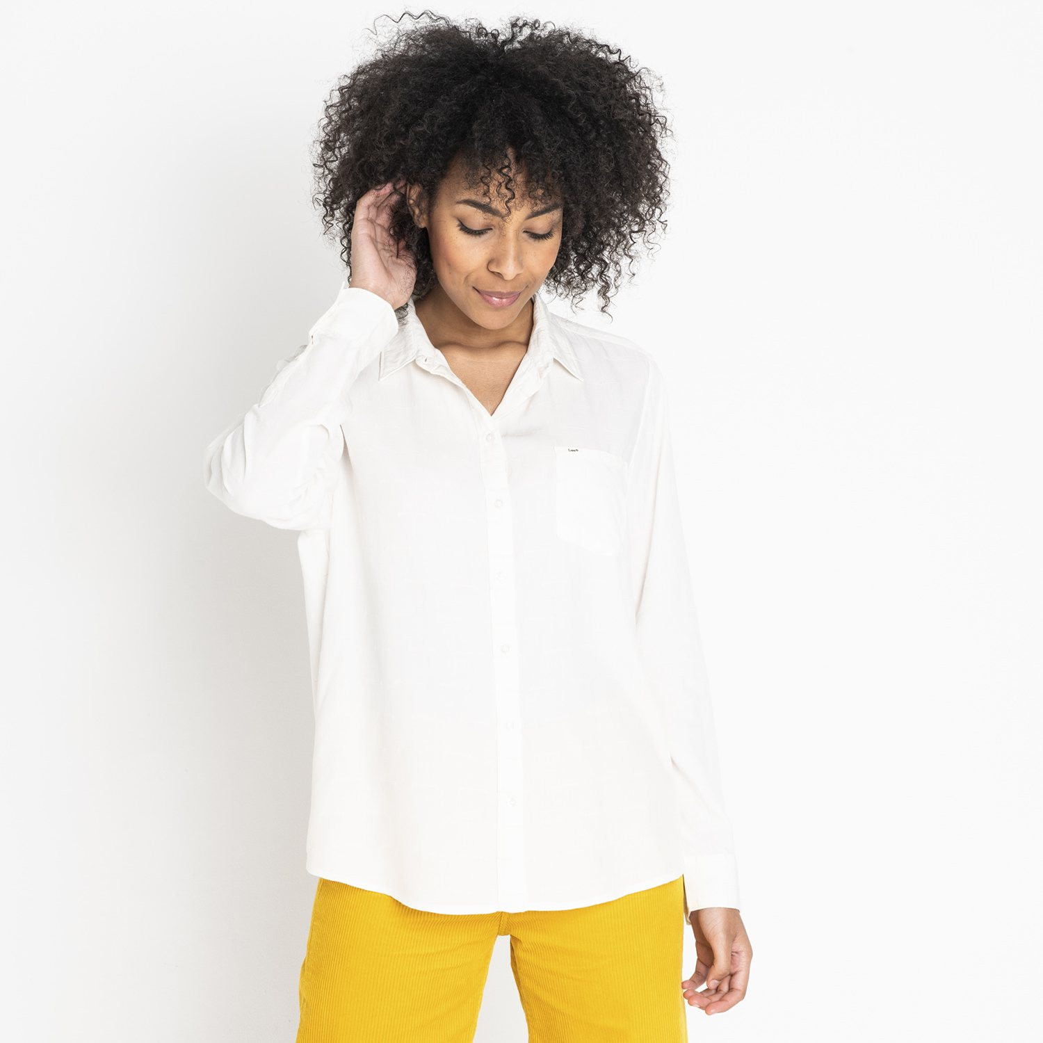 Lee ONE POCKET SHIRT OFF WHITE