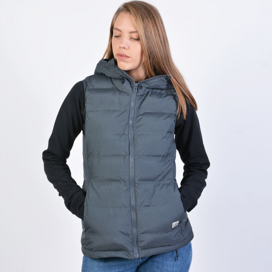 Body Action WOMEN WINTER VEST WITH HOOD