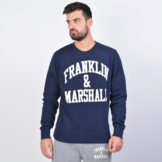 Franklin & Marshall Fleece Cotton Round Neck Sweatshirt