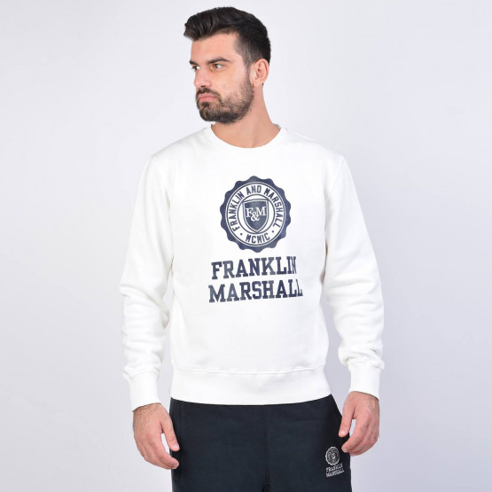 Franklin & Marshall Fleece Cotton Long-Sleeve Top
