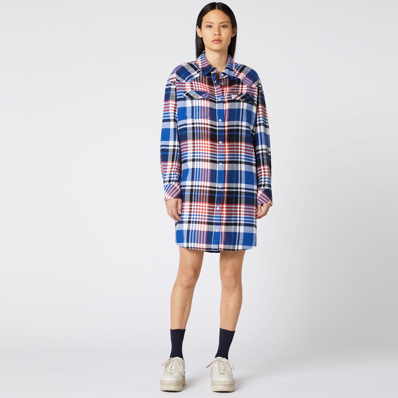 Wrangler OVERSHIRT DRESS COBALT BLUE