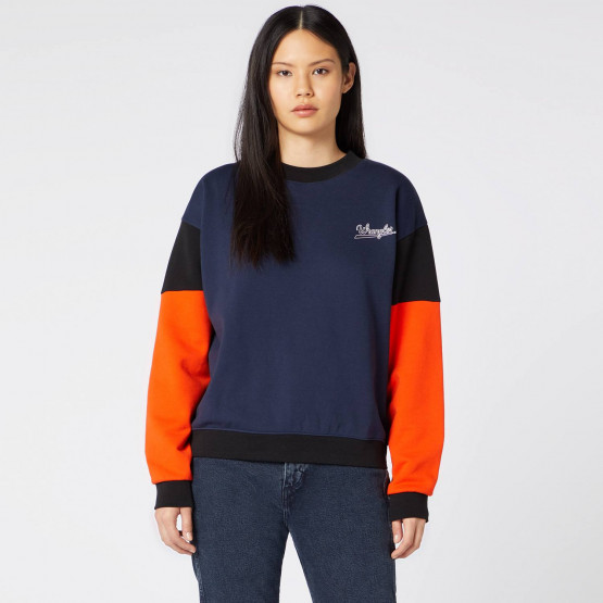Wrangler HIGH RIB RETRO SWEAT NAVY